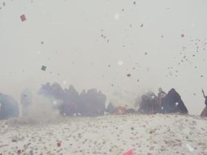 Tibetan monks commemorate the Tibetan Uprising with peaceful religious rituals. | Photo: savetibet.org .